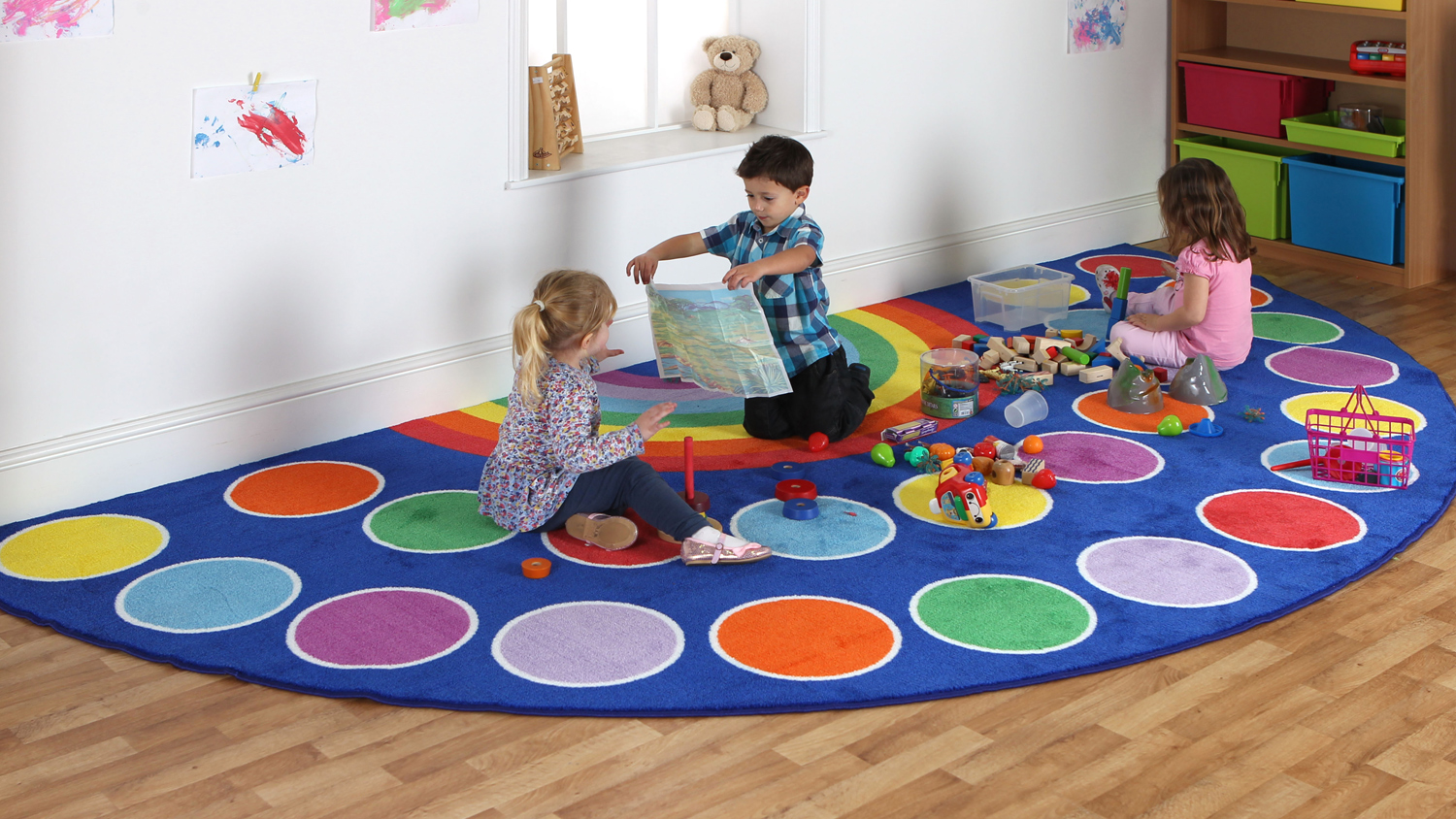 grand tapis arc en ciel de kit for kids par ludesign. Black Bedroom Furniture Sets. Home Design Ideas